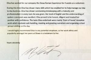 Reference Letter Elisa